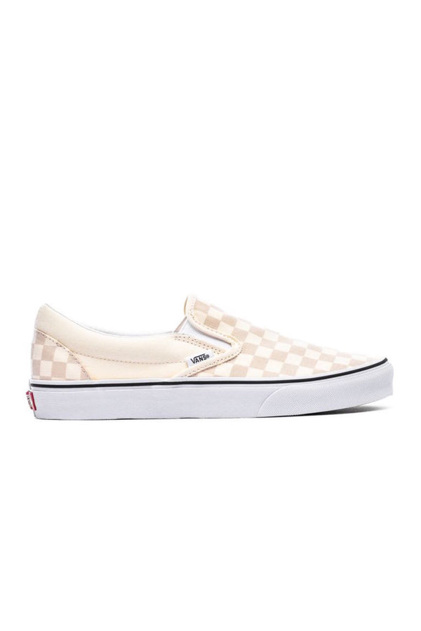 Classic White Checkerboard Slip-On