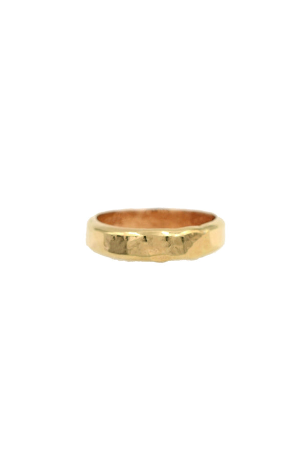 Gold Valor Hammered Ring
