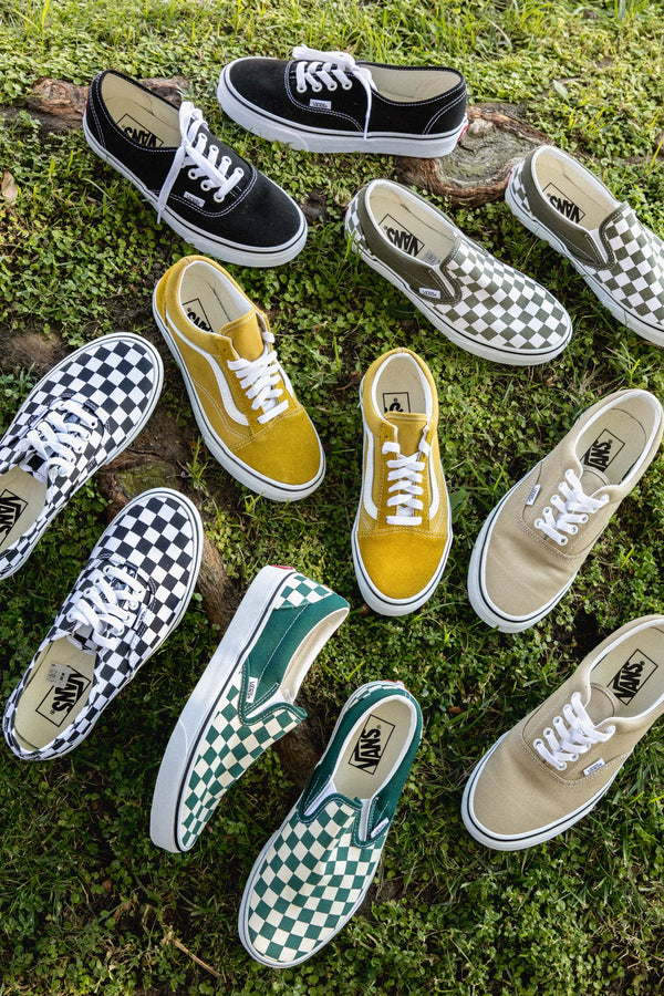 Bistro Green Checkerboard Slip-On