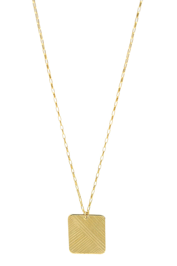 Gold Flow Rectangle Necklace
