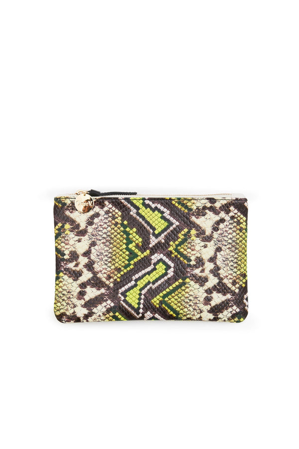 Yellow Riviera Snake Wallet Clutch