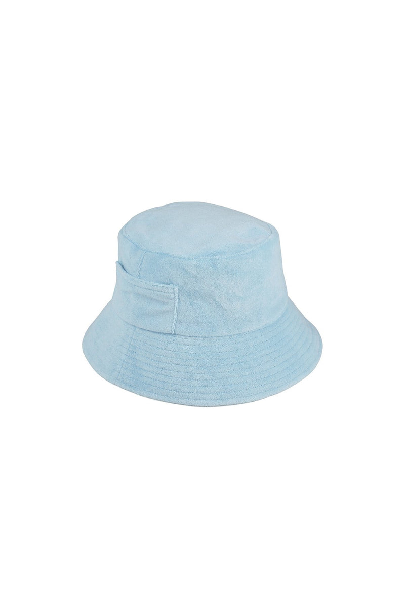 Aqua Terry Wave Bucket Hat
