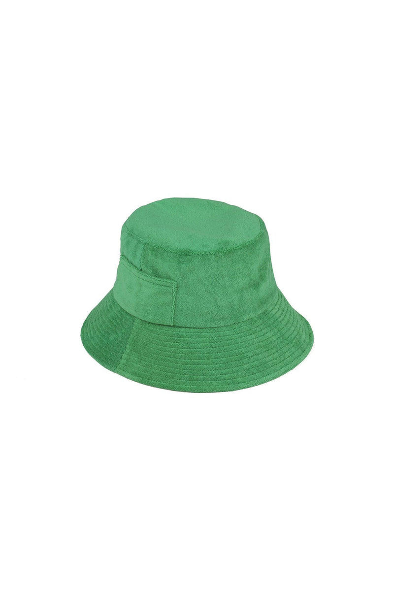 Green Terry Wave Bucket Hat