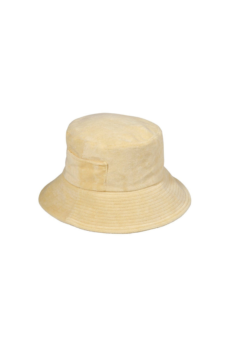 Yellow Terry Wave Bucket Hat