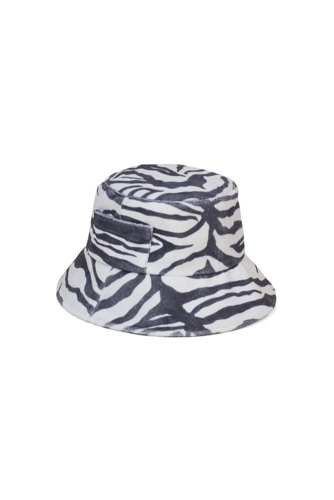 Zebra Wave Bucket Hat