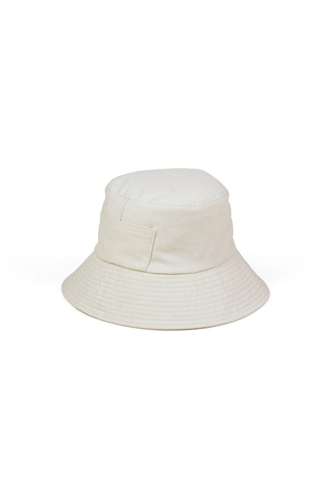 Cream Wave Bucket Hat