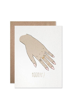 Hooray Engagement Card