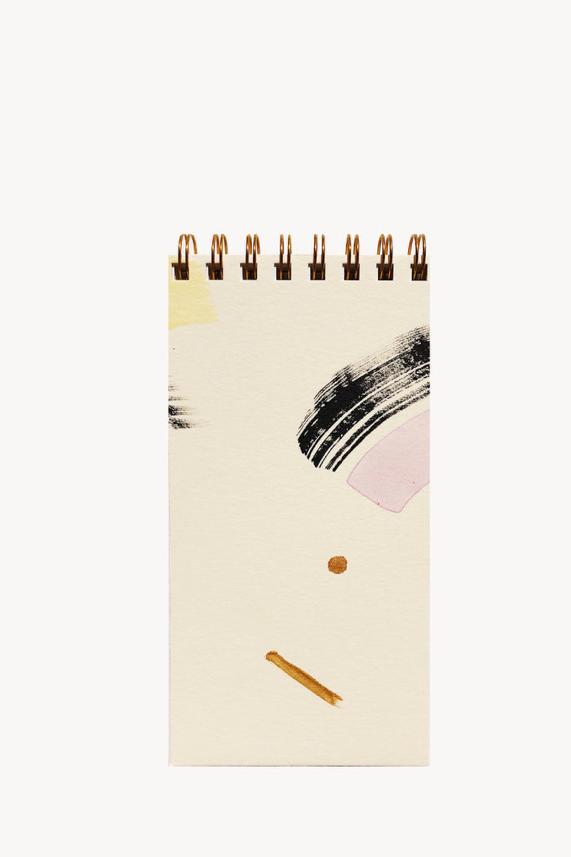 Modern Painted Skinny Notepad