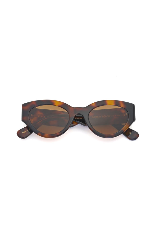 Brown Tortoise Bombay Beach Sunglasses