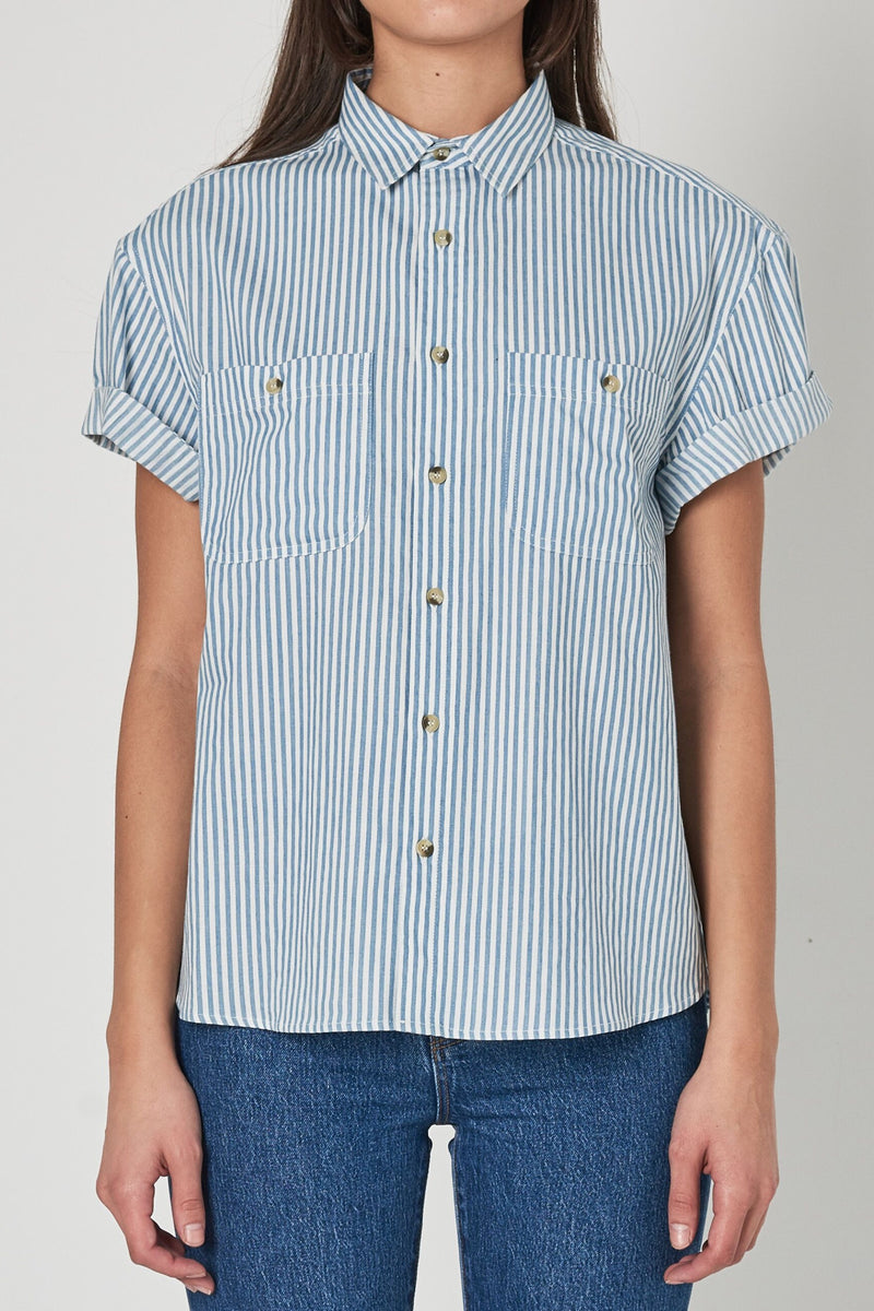 Sky Blue Striped Daria Shirt