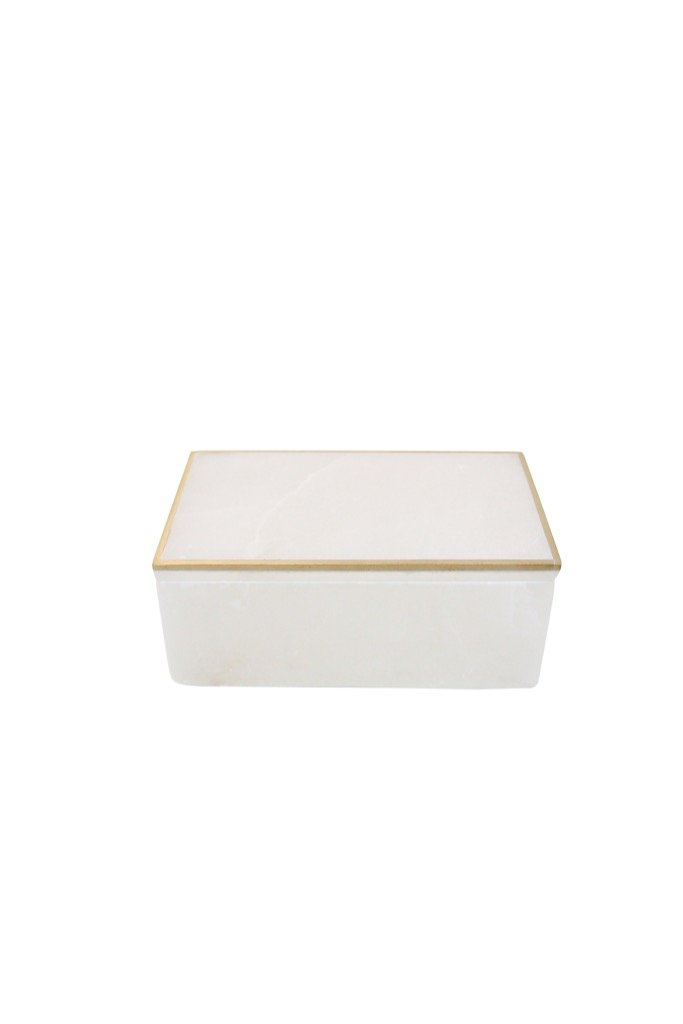 Alabaster Trinket Box