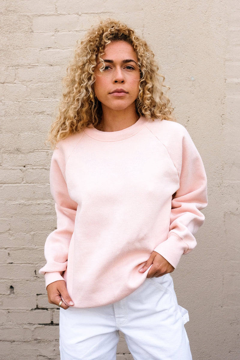 Faded Pink Butterfly Sweatshirt