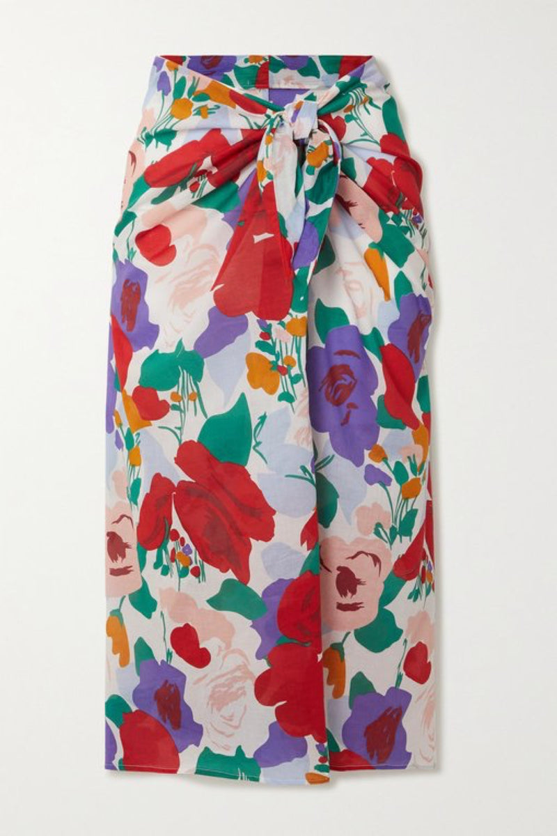 Anita Floral Pareo Wrap Skirt