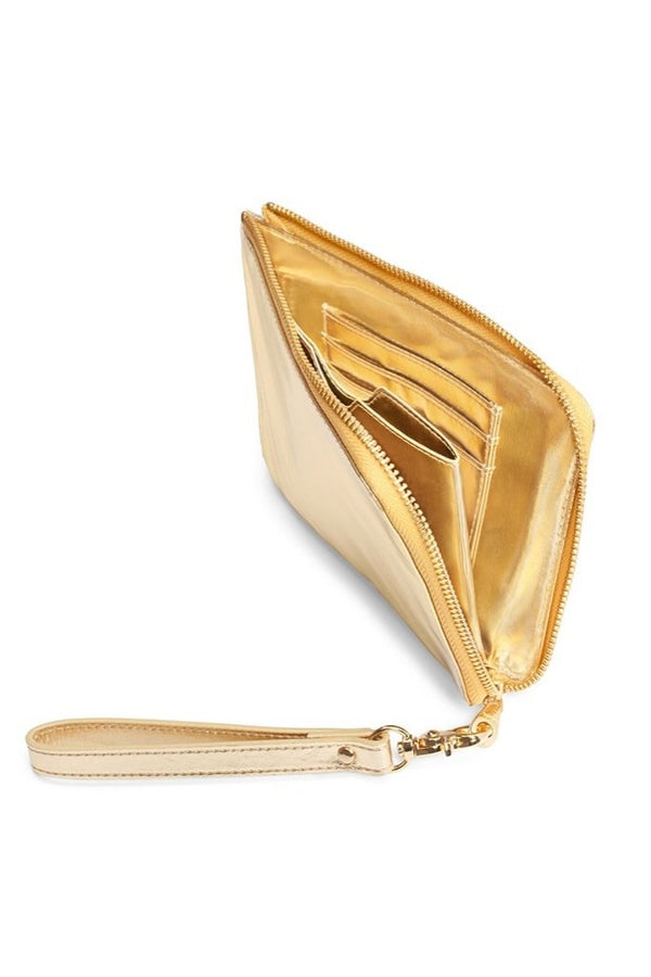 Gold Getaway Travel Clutch
