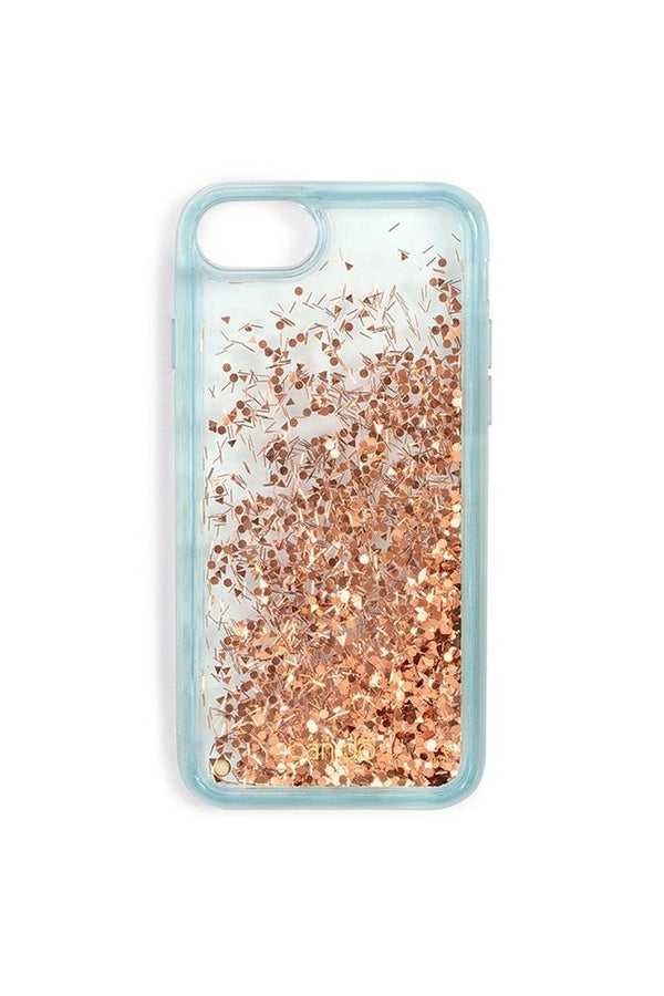 Ice Blue Glitter Bomb iPhone Case