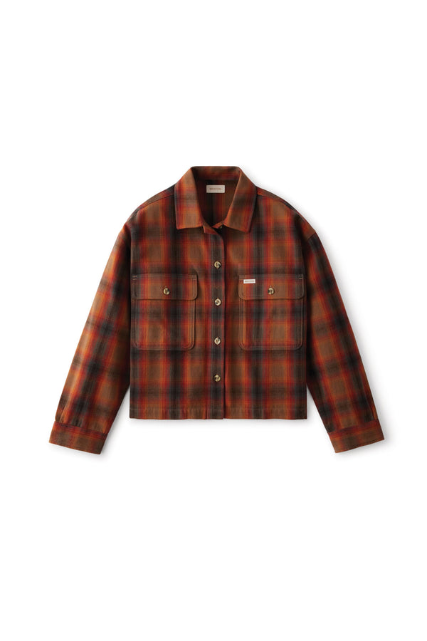 Washed Brown Bowery Flannel