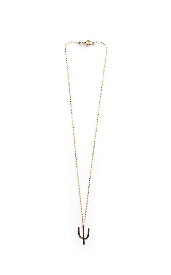 Gold Tucson Cactus Necklace