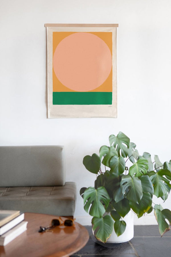 Peach Litha Canvas Print