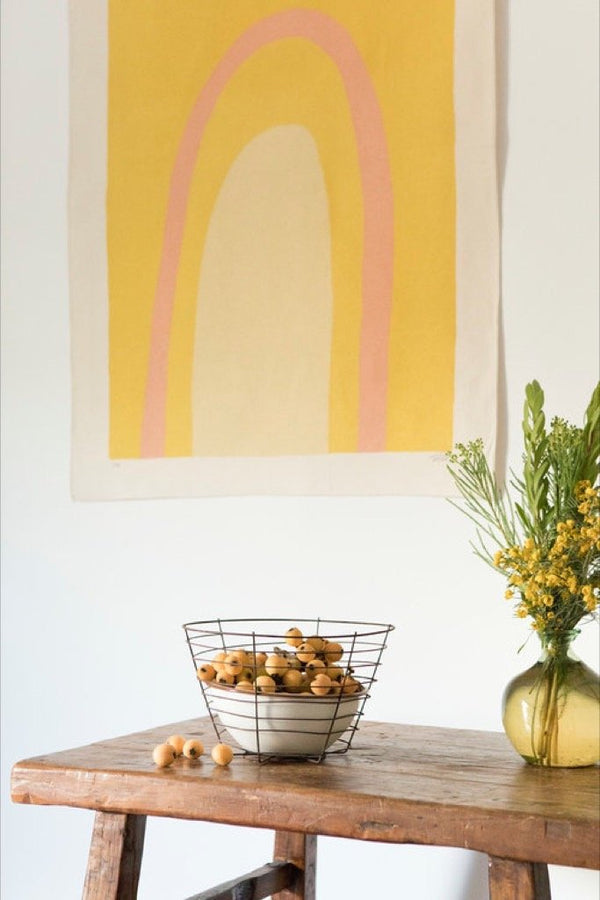 Gold Ellipse Canvas Print
