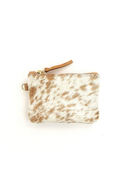 Caramel Speckled Coin Pouch