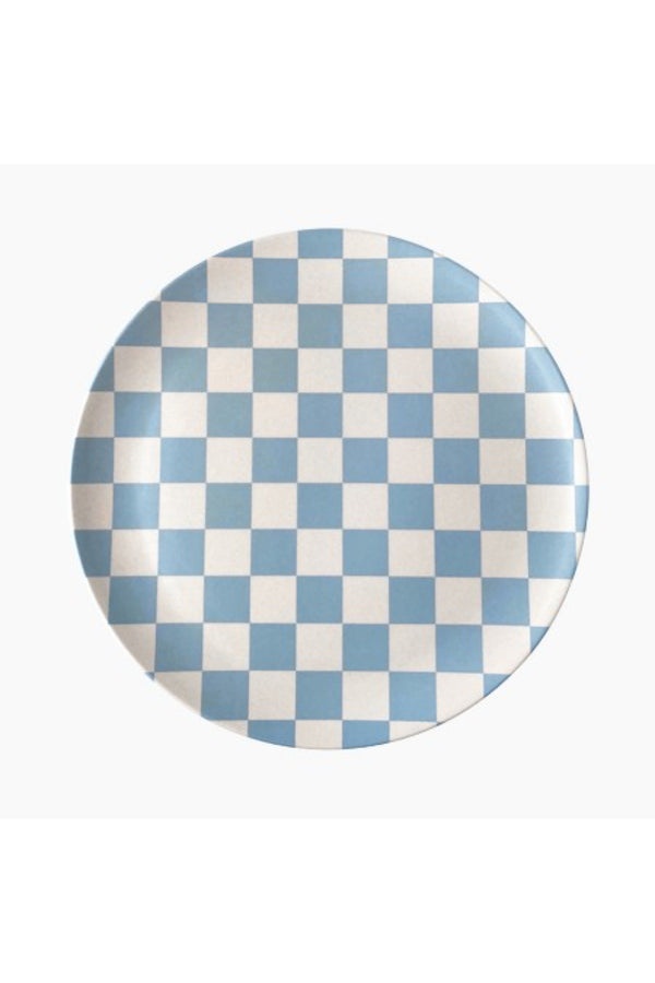 Blue Check Dinner Plate Set