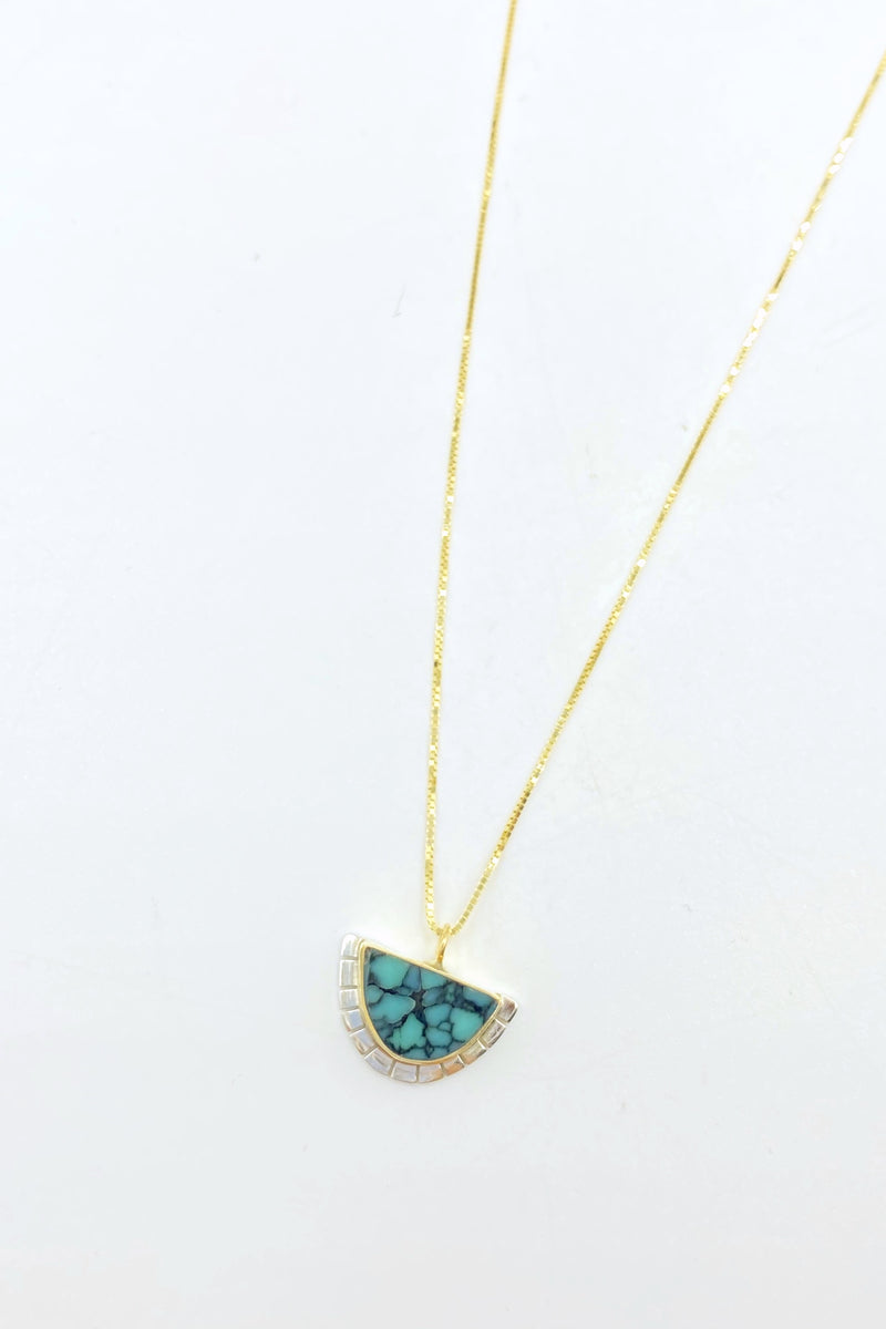 Colina Variscite Selene Necklace