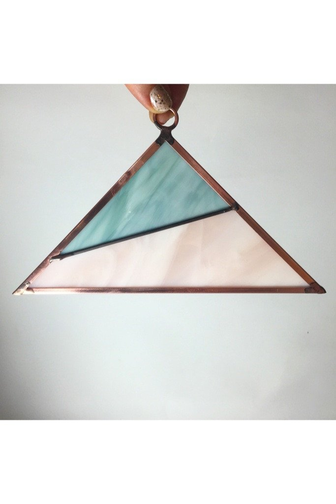 Copper Stained Glass Hanging