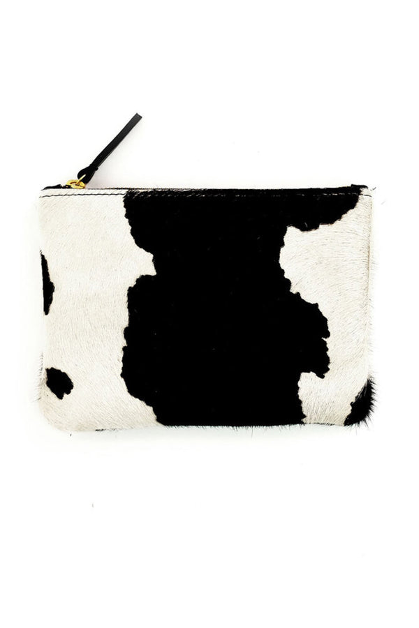 Cow Print Zipper Pouch