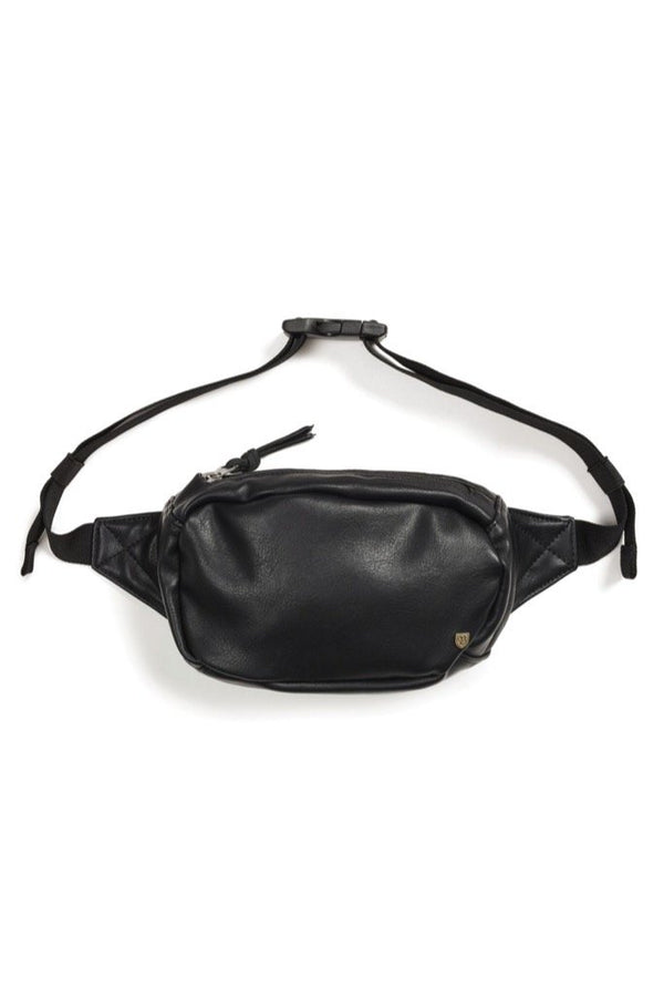 Black Leather Delilah Hip Pack
