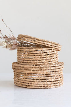 Woven Palm Basket Set