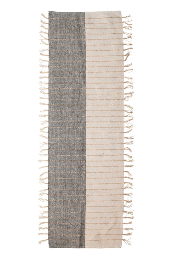 Jute Stripe Two-Tone Runner