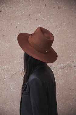 Burnt Orange Cotta Fedora