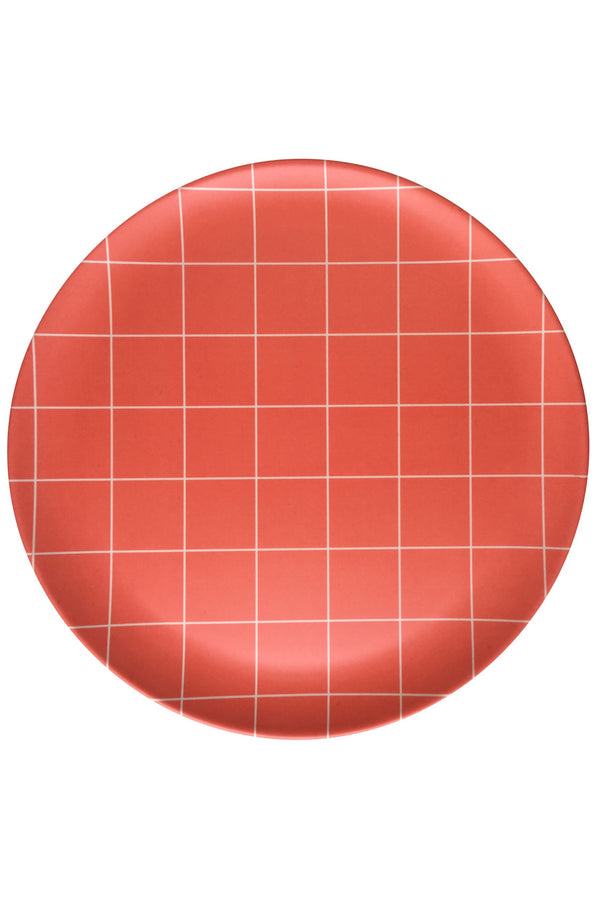 Red Grid Side Plate Set