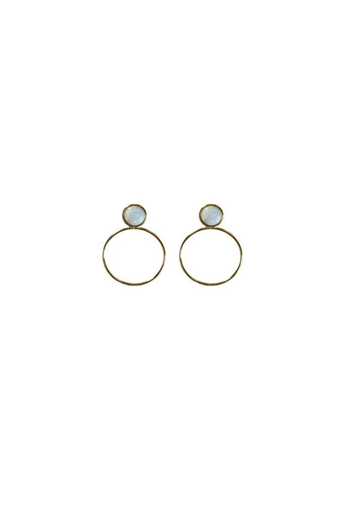 Gold Opal Layla Earrings