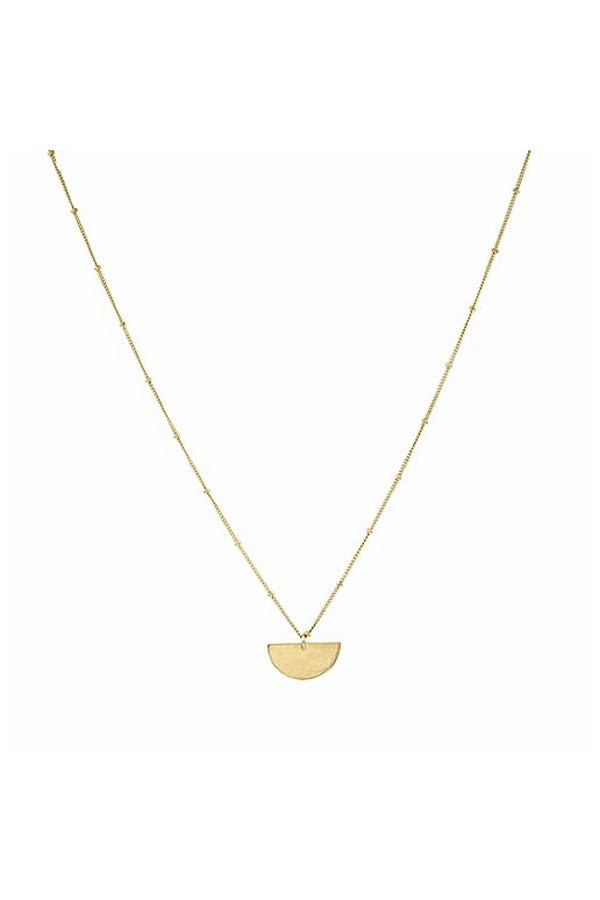 Gold Semi Circle Necklace