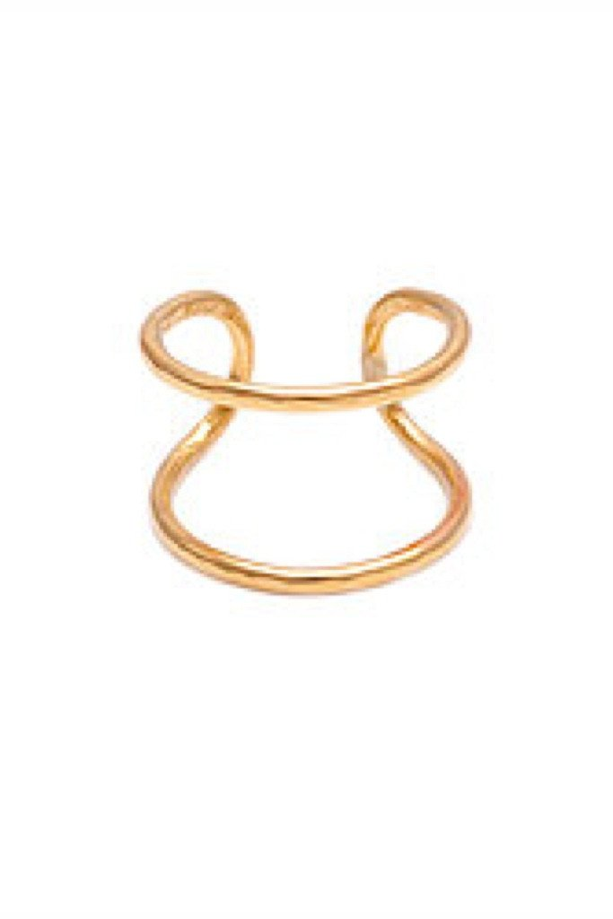 Gold Parallel Midi Ring