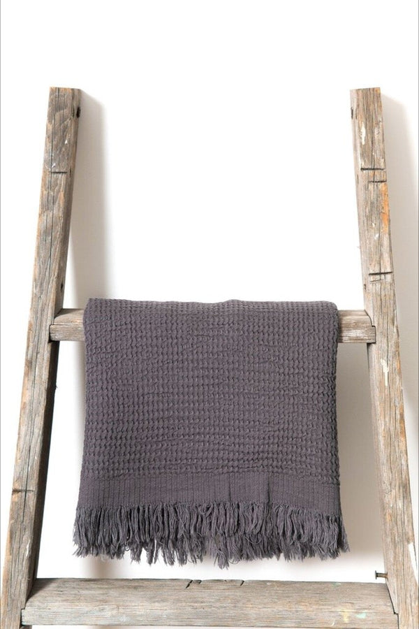Ella Anthracite Hand Towel