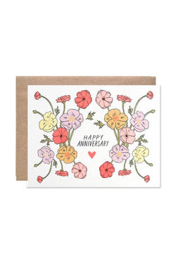 Anniversary Poppies Card