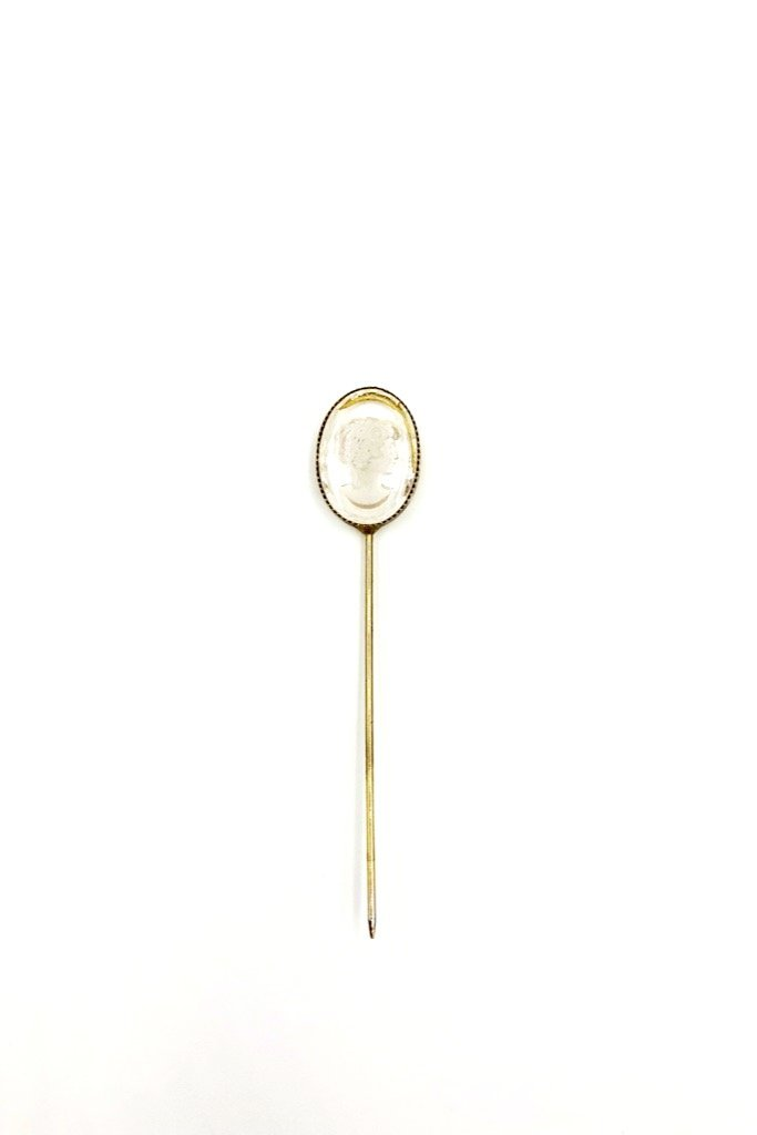 Lucite Cameo Pin