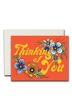 Thinking Of You Florals Card