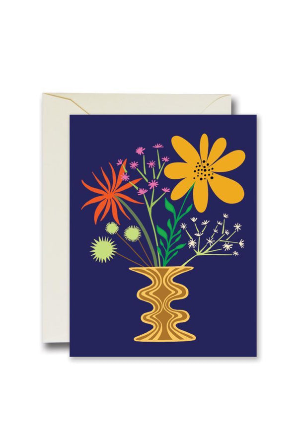 Navy Friendly Flowers Card