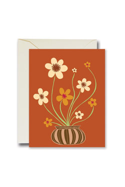 Rust Friendly Flowers Card