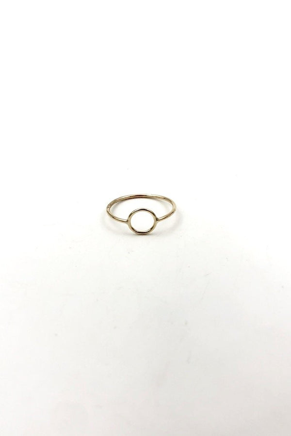 Gold Full Moon Ring