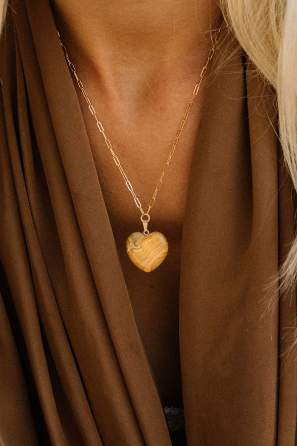 Brown Agate Free Bird Necklace