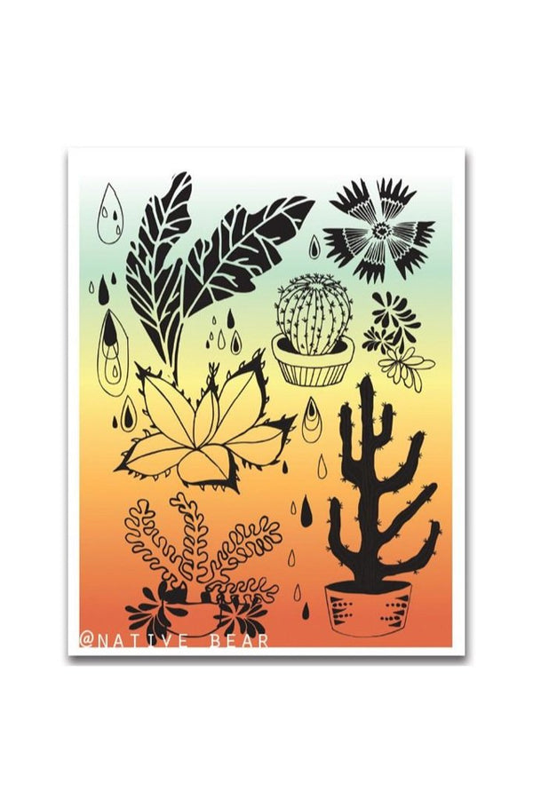 Hearty Plants Rainbow Print