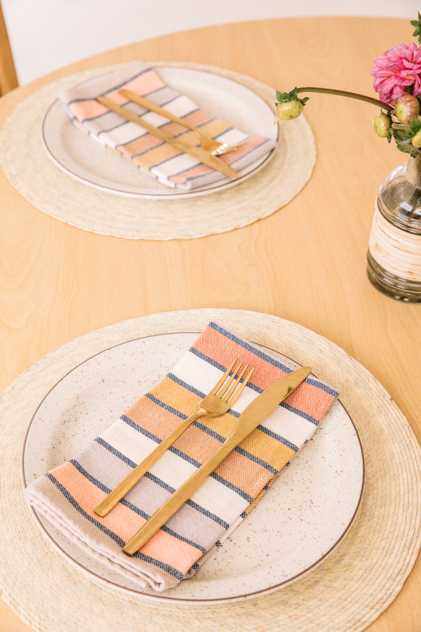 Sunrise Stripe Napkin Set