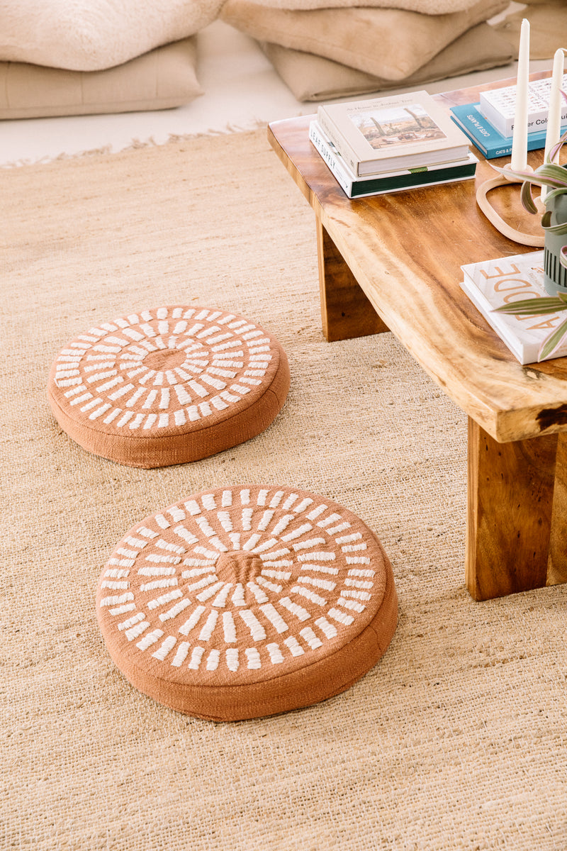 Terracotta Round Pillow