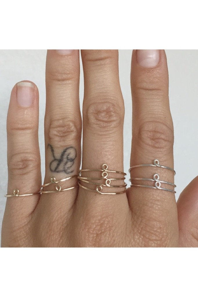 Gold Petite Loop Ring