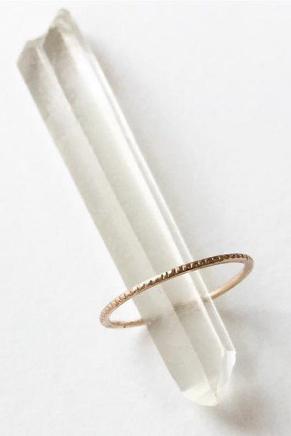Gold Coin Edge Ring