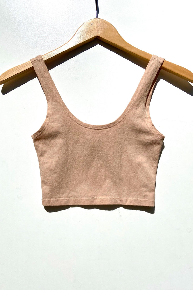 Cocoa Scoop Neck Crop